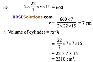 RBSE Solutions for Class 10 Maths Chapter 16 Surface Area and Volume Ex 16.2 3
