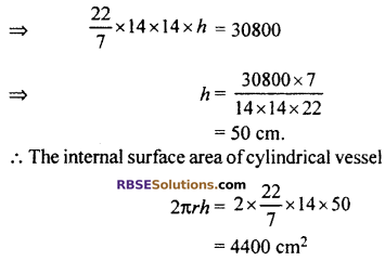 RBSE Solutions for Class 10 Maths Chapter 16 Surface Area and Volume Ex 16.2 7