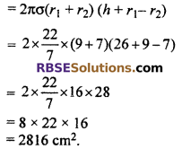 RBSE Solutions for Class 10 Maths Chapter 16 Surface Area and Volume Ex 16.2 8