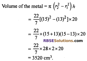 RBSE Solutions for Class 10 Maths Chapter 16 Surface Area and Volume Ex 16.2 9