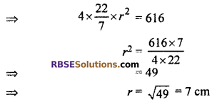 RBSE Solutions for Class 10 Maths Chapter 16 Surface Area and Volume Ex 16.4 1