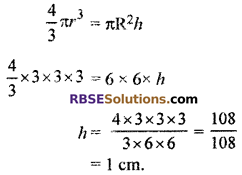 RBSE Solutions for Class 10 Maths Chapter 16 Surface Area and Volume Ex 16.4 12