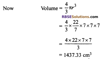 RBSE Solutions for Class 10 Maths Chapter 16 Surface Area and Volume Ex 16.4 2