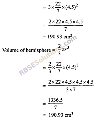 RBSE Solutions for Class 10 Maths Chapter 16 Surface Area and Volume Ex 16.4 3