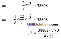 RBSE Solutions for Class 10 Maths Chapter 16 Surface Area and Volume Ex 16.4 4