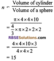 RBSE Solutions for Class 10 Maths Chapter 16 Surface Area and Volume Ex 16.4 6