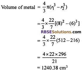RBSE Solutions for Class 10 Maths Chapter 16 Surface Area and Volume Ex 16.4 7