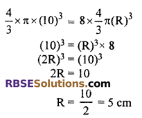 RBSE Solutions for Class 10 Maths Chapter 16 Surface Area and Volume Ex 16.4 9