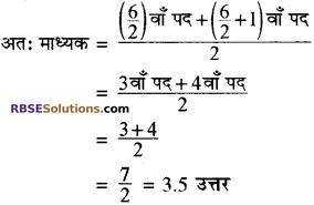 RBSE Solutions for Class 10 Maths Chapter 17 केन्द्रीय प्रवृत्ति के माप Additional Questions 10