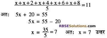 RBSE Solutions for Class 10 Maths Chapter 17 केन्द्रीय प्रवृत्ति के माप Additional Questions 11