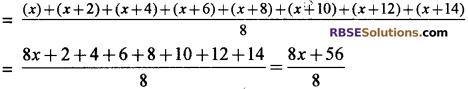 RBSE Solutions for Class 10 Maths Chapter 17 केन्द्रीय प्रवृत्ति के माप Additional Questions 12