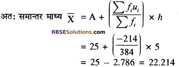 RBSE Solutions for Class 10 Maths Chapter 17 केन्द्रीय प्रवृत्ति के माप Additional Questions 16