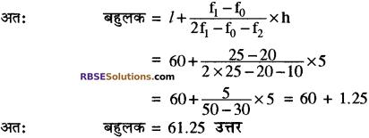 RBSE Solutions for Class 10 Maths Chapter 17 केन्द्रीय प्रवृत्ति के माप Additional Questions 24