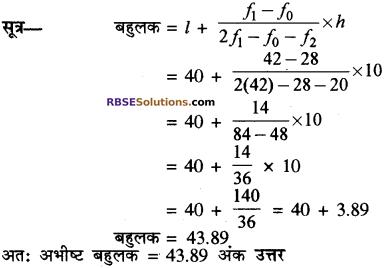 RBSE Solutions for Class 10 Maths Chapter 17 केन्द्रीय प्रवृत्ति के माप Additional Questions 29
