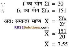 RBSE Solutions for Class 10 Maths Chapter 17 केन्द्रीय प्रवृत्ति के माप Ex 17.2 1