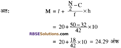 RBSE Solutions for Class 10 Maths Chapter 17 केन्द्रीय प्रवृत्ति के माप Ex 17.7 2