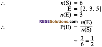 RBSE Solutions for Class 10 Maths Chapter 18 प्रायिकता Additional Questions 1