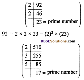RBSE Solutions for Class 10 Maths Chapter 2 Real NumbersAdditional Questions LAQ 3.1