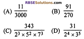 RBSE Solutions for Class 10 Maths Chapter 2 Real NumbersAdditional Questions MCQ 3