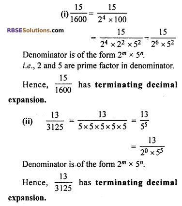 RBSE Solutions for Class 10 Maths Chapter 2 Real Numbers Ex 2.4 Q1.1
