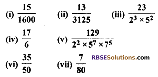 RBSE Solutions for Class 10 Maths Chapter 2 Real Numbers Ex 2.4 Q1