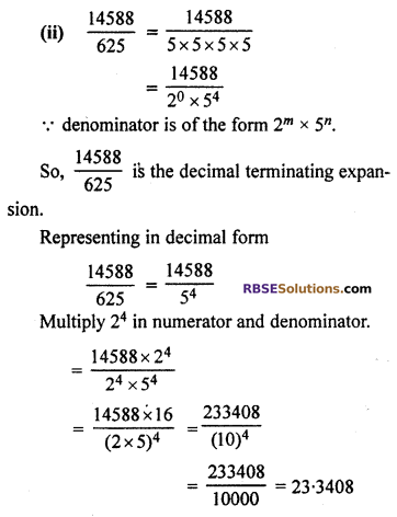 RBSE Solutions for Class 10 Maths Chapter 2 Real Numbers Ex 2.4 Q2.1