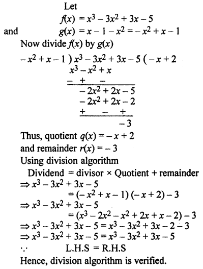 RBSE Solutions for Class 10 Maths Chapter 3 Polynomials Additional Questions 4
