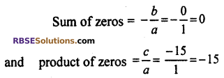 RBSE Solutions for Class 10 Maths Chapter 3 PolynomialsEx 3.1 Q1.3