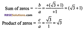 RBSE Solutions for Class 10 Maths Chapter 3 PolynomialsEx 3.1 Q1.4