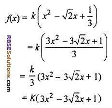 RBSE Solutions for Class 10 Maths Chapter 3 PolynomialsEx 3.1 Q2