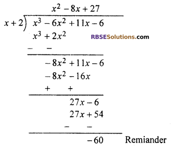 RBSE Solutions for Class 10 Maths Chapter 3 PolynomialsEx 3.2 Q1.2