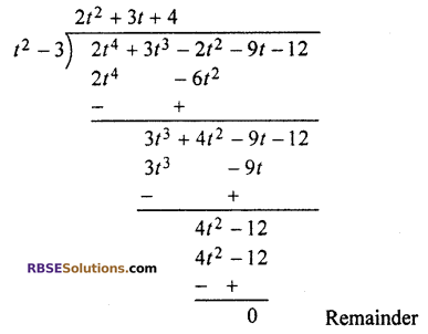 RBSE Solutions for Class 10 Maths Chapter 3 PolynomialsEx 3.2 Q2.1
