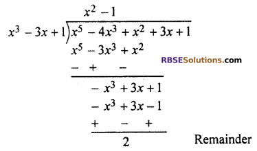 RBSE Solutions for Class 10 Maths Chapter 3 PolynomialsEx 3.2 Q2.2