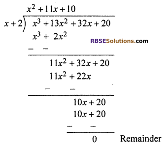 RBSE Solutions for Class 10 Maths Chapter 3 PolynomialsEx 3.2 Q3.3