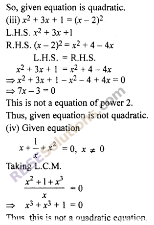 RBSE Solutions for Class 10 Maths Chapter 3 Polynomials Ex 3.3 2