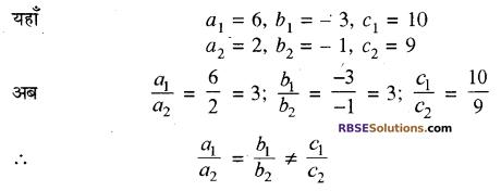 RBSE Solutions for Class 10 Maths Chapter 4 दो चरों वाले रैखिक समीकरण एवं असमिकाएँ Additional Questions 15
