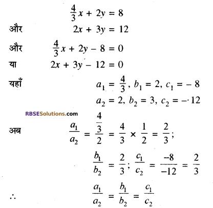 RBSE Solutions for Class 10 Maths Chapter 4 दो चरों वाले रैखिक समीकरण एवं असमिकाएँ Additional Questions 19