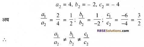 RBSE Solutions for Class 10 Maths Chapter 4 दो चरों वाले रैखिक समीकरण एवं असमिकाएँ Additional Questions 25