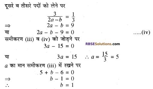 RBSE Solutions for Class 10 Maths Chapter 4 दो चरों वाले रैखिक समीकरण एवं असमिकाएँ Additional Questions 3