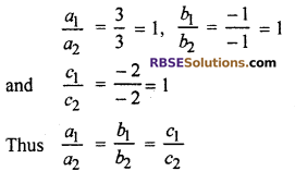 RBSE Solutions for Class 10 Maths Chapter 4 Linear Equation and Inequalities in Two Variables Ex 4.1 1