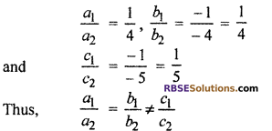 RBSE Solutions for Class 10 Maths Chapter 4 Linear Equation and Inequalities in Two Variables Ex 4.1 2