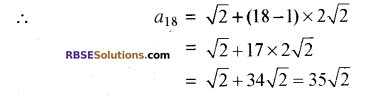 RBSE Solutions for Class 10 Maths Chapter 5 समान्तर श्रेढ़ी Ex 5.2 1