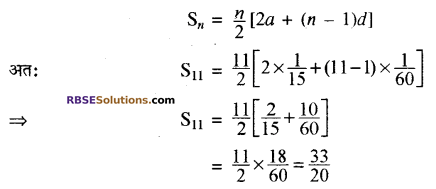 RBSE Solutions for Class 10 Maths Chapter 5 समान्तर श्रेढ़ी Ex 5.3 3