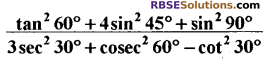 RBSE Solutions for Class 10 Maths Chapter 6 त्रिकोणमितीय अनुपात Ex 6.1 12