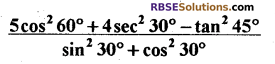 RBSE Solutions for Class 10 Maths Chapter 6 त्रिकोणमितीय अनुपात Ex 6.1 5