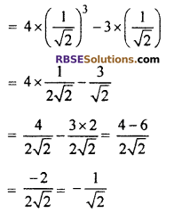 RBSE Solutions for Class 10 Maths Chapter 6 Trigonometric Ratios Additional Questions 8