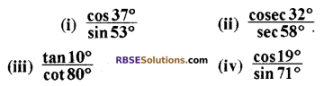 RBSE Solutions for Class 10 Maths Chapter 7 त्रिकोणमितीय सर्वसमिकाएँ Ex 7.2 1