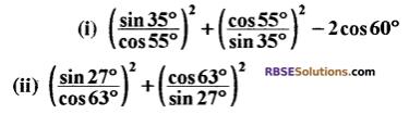 RBSE Solutions for Class 10 Maths Chapter 7 त्रिकोणमितीय सर्वसमिकाएँ Ex 7.2 6