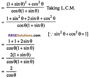 RBSE Solutions for Class 10 Maths Chapter 7 Trigonometric Identities Ex 7.1 11