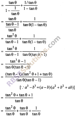 RBSE Solutions for Class 10 Maths Chapter 7 Trigonometric Identities Ex 7.1 19